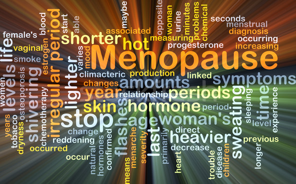 Menopause background concept glowing Stock photo © kgtoh