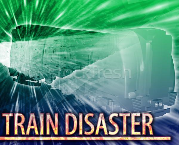 поезд катастрофа аннотация Цифровая иллюстрация цифровой коллаж Сток-фото © kgtoh