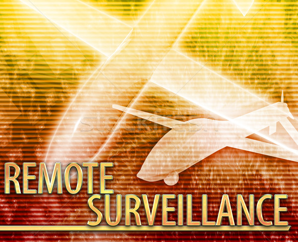 Remote surveillance Abstract concept digital illustration Stock photo © kgtoh