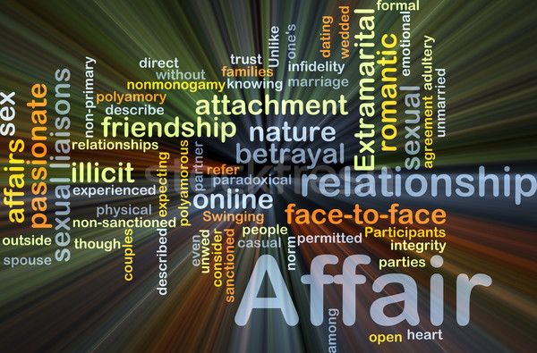 Affair background concept glowing Stock photo © kgtoh