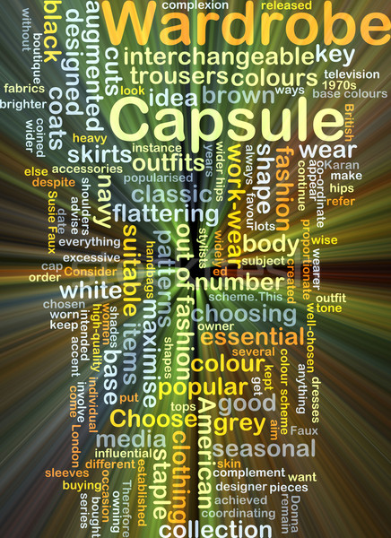 Capsule wardrobe background concept glowing Stock photo © kgtoh