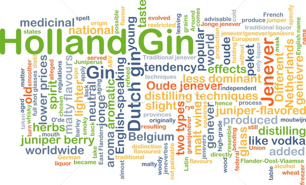 Holland gin background concept Stock photo © kgtoh