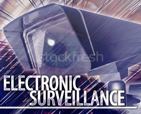Electronic surveillance Abstract concept digital illustration Stock photo © kgtoh