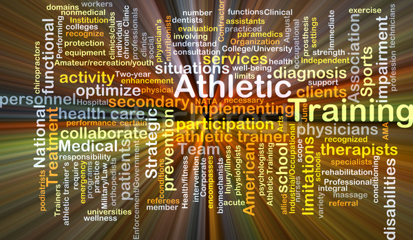 Athletic training background concept glowing Stock photo © kgtoh