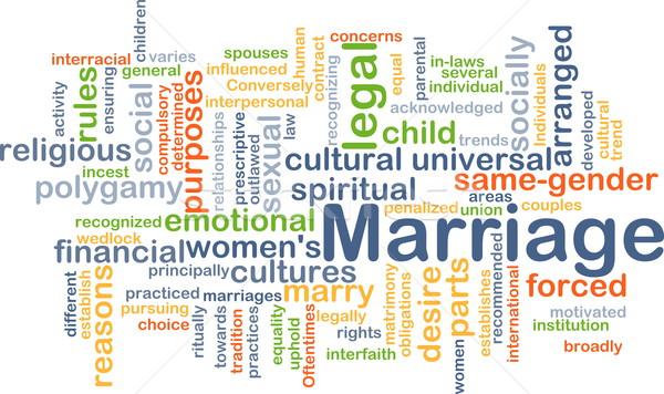 Marriage background concept Stock photo © kgtoh