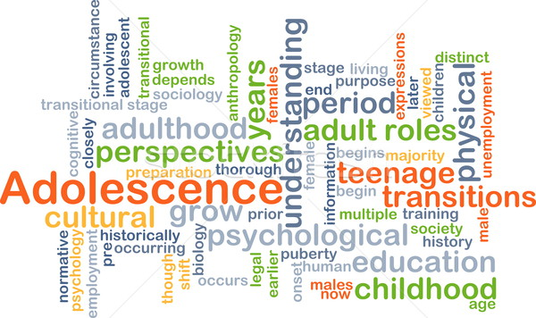 Adolescence background concept Stock photo © kgtoh