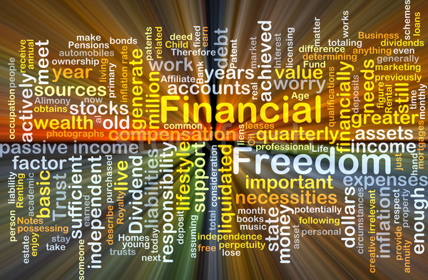 Financial freedom background concept glowing Stock photo © kgtoh