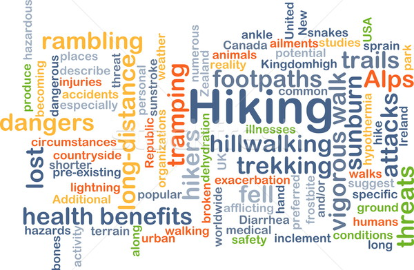 Hiking background concept Stock photo © kgtoh