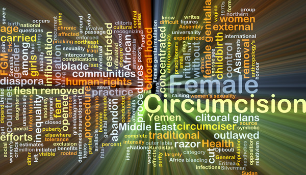 Female circumcision background concept glowing Stock photo © kgtoh