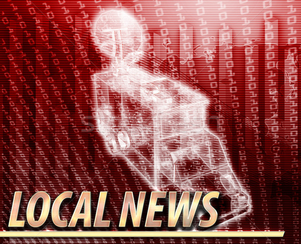 Local news Abstract concept digital illustration Stock photo © kgtoh