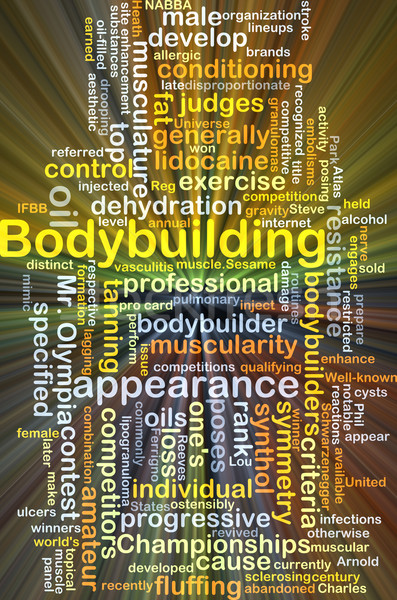 Bodybuilding background concept glowing Stock photo © kgtoh