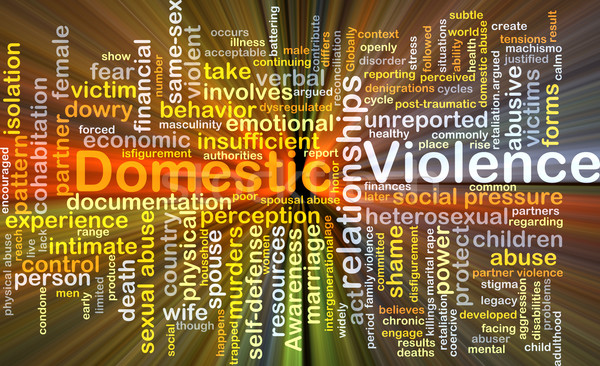 Domestic violence background concept glowing Stock photo © kgtoh
