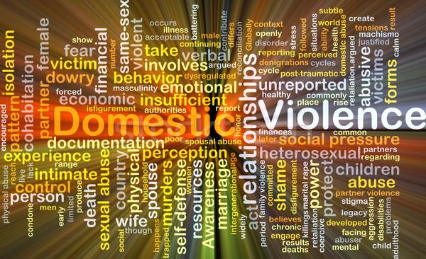Violenza domestica illustrazione luce sfondo Foto d'archivio © kgtoh