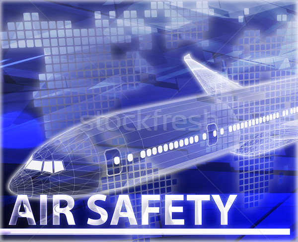 Air safety Abstract concept digital illustration Stock photo © kgtoh