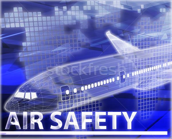 Levegő biztonság absztrakt digitális illusztráció digitális kollázs Stock fotó © kgtoh