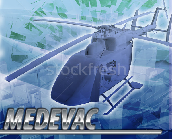 Medevac Abstract concept digital illustration Stock photo © kgtoh