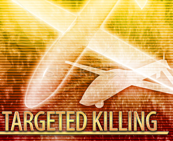 Targeted killing Abstract concept digital illustration Stock photo © kgtoh