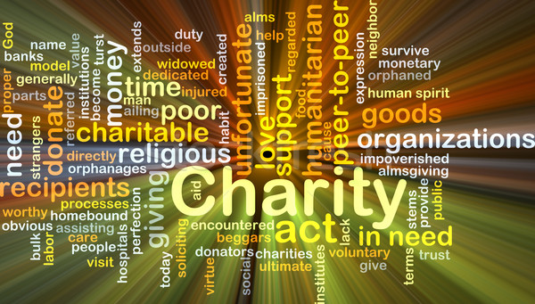 Charity background concept glowing Stock photo © kgtoh