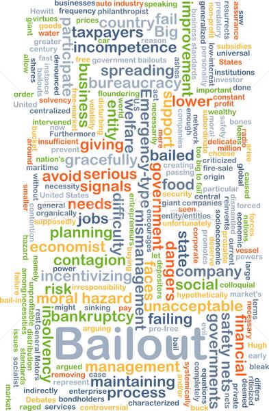 Bailout background concept Stock photo © kgtoh