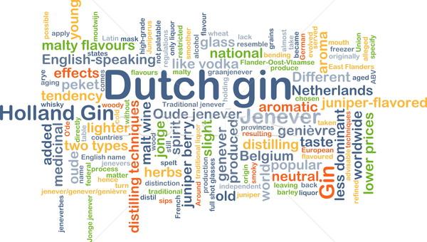 Holland gin háttér szófelhő illusztráció terv Stock fotó © kgtoh