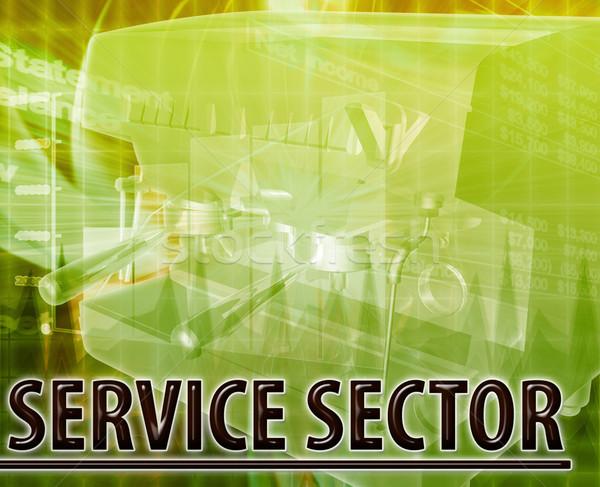 Szolgáltatás absztrakt digitális illusztráció digitális kollázs illusztráció Stock fotó © kgtoh