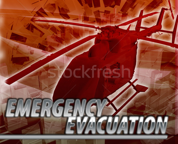 Emergency evacuation Abstract concept digital illustration Stock photo © kgtoh
