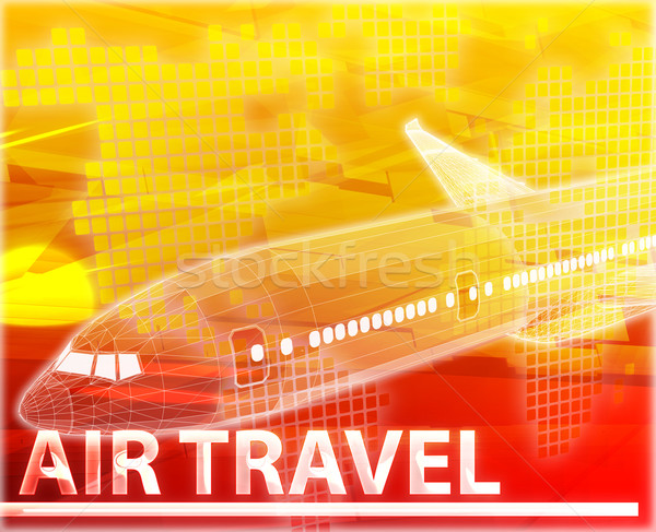 Air travel Abstract concept digital illustration Stock photo © kgtoh