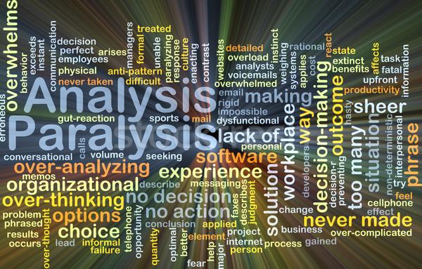 Analysis paralysis background concept glowing Stock photo © kgtoh