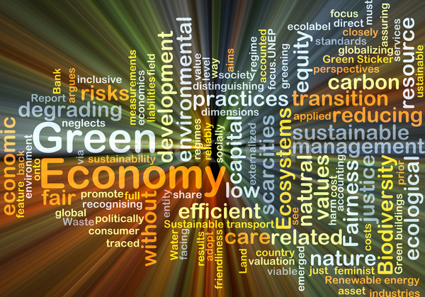 Green economy background concept glowing Stock photo © kgtoh
