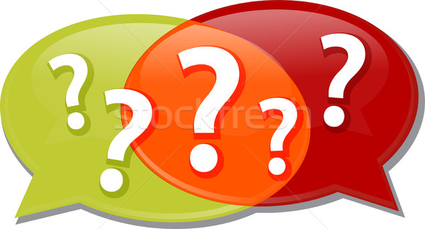 Questions dialog conversation talking Illustration clipart Stock photo © kgtoh