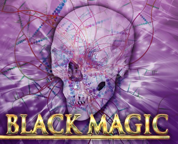 黒 魔法 抽象的な デジタルイラストレーション デジタル コラージュ ストックフォト © kgtoh