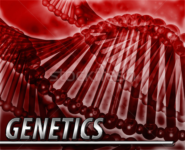 Genetics Abstract concept digital illustration Stock photo © kgtoh