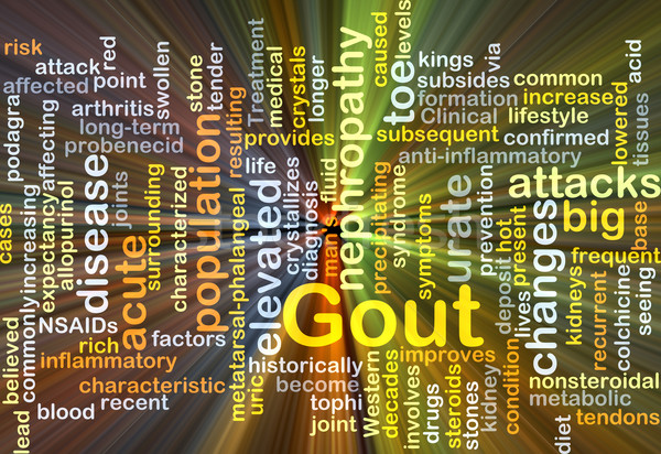 Gout background concept glowing Stock photo © kgtoh