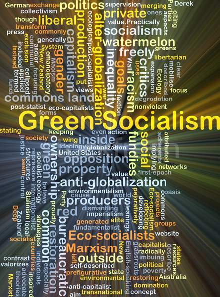 Green socialism background concept glowing Stock photo © kgtoh