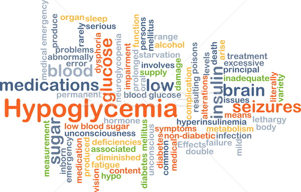 Hypoglycemia background concept Stock photo © kgtoh