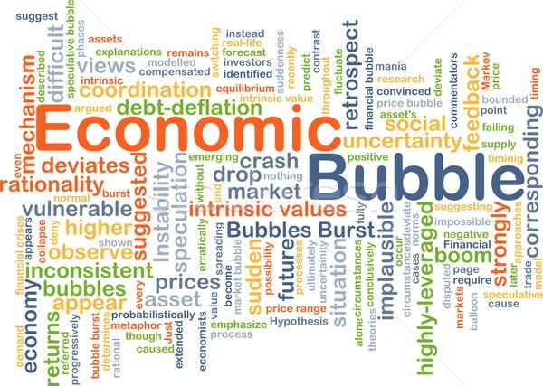 Economisch bubble achtergrond illustratie wolk Stockfoto © kgtoh