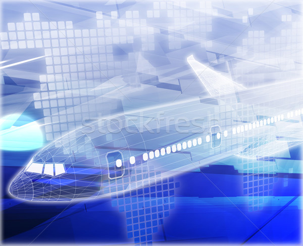 Air travel airplane Abstract concept digital illustration Stock photo © kgtoh