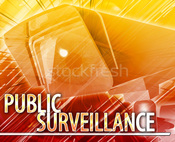 Public surveillance Abstract concept digital illustration Stock photo © kgtoh