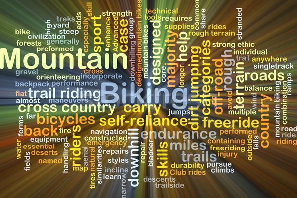 Mountain bike ilustração luz atravessar Foto stock © kgtoh