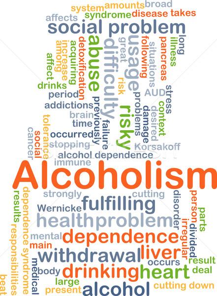 Alcoholism background concept Stock photo © kgtoh