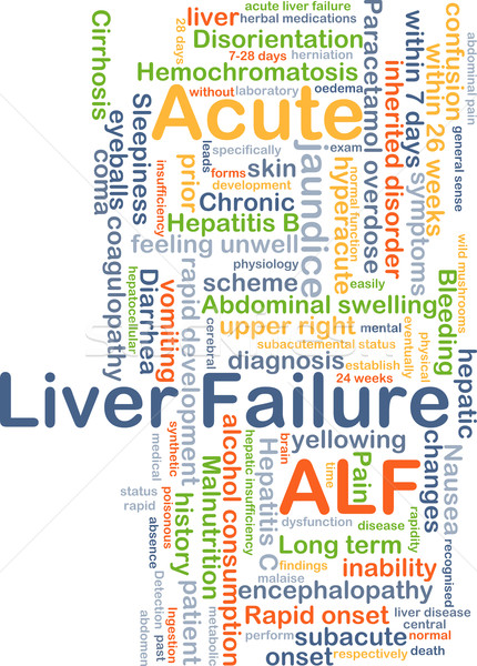 Acute liver failure ALF background concept Stock photo © kgtoh