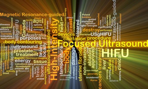 High-intensity focused ultrasound HIFU background concept glowin Stock photo © kgtoh