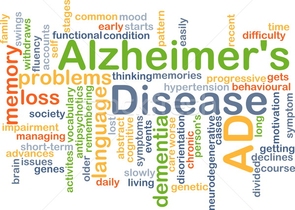 Alzheimer's disease background concept Stock photo © kgtoh