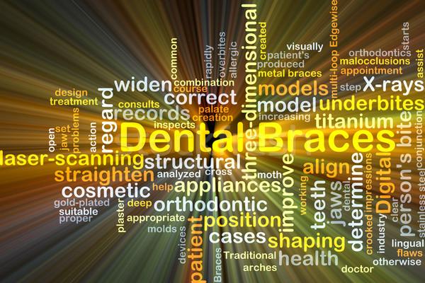 Tandheelkundige bretels illustratie licht Stockfoto © kgtoh