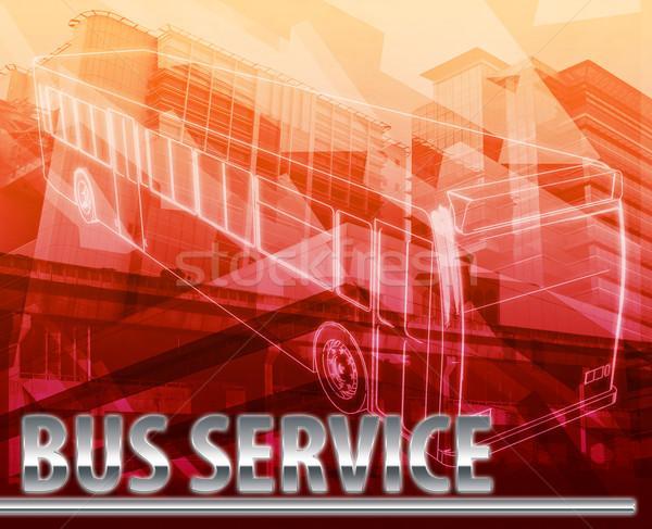 ônibus serviço abstrato ilustração digital digital colagem Foto stock © kgtoh