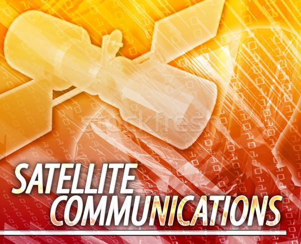 Satélite comunicações abstrato ilustração digital digital colagem Foto stock © kgtoh