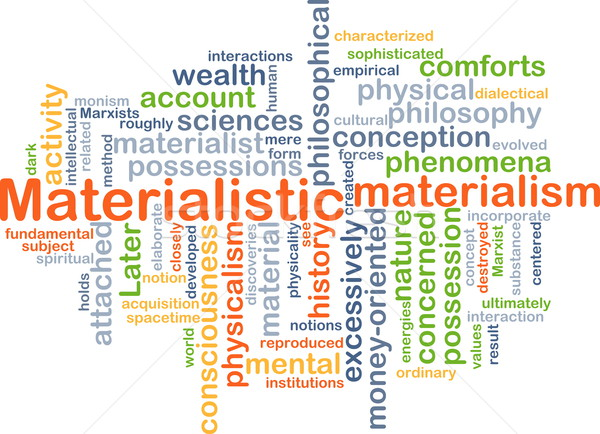 Materialistic background concept Stock photo © kgtoh