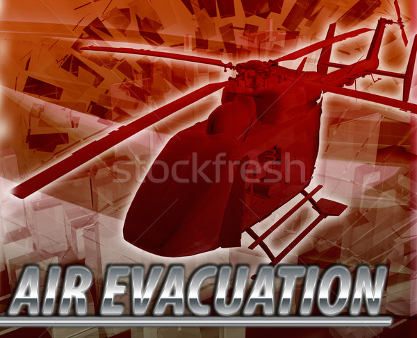 Air evacuation Abstract concept digital illustration Stock photo © kgtoh