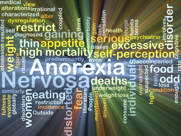 Anorexia nervosa background concept glowing Stock photo © kgtoh