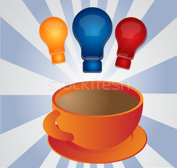 вдохновение кофе иллюстрация clipart Кубок Сток-фото © kgtoh